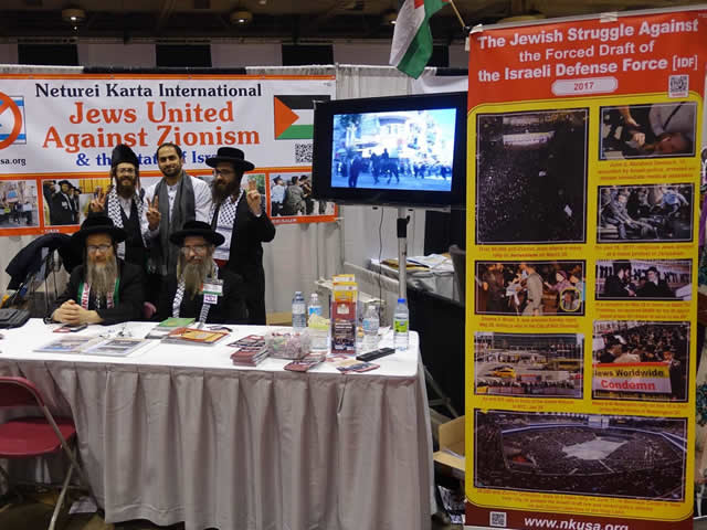 24 December 2017: Neturei Karta booth at the RIS convention this weekend in Toronto, Canada