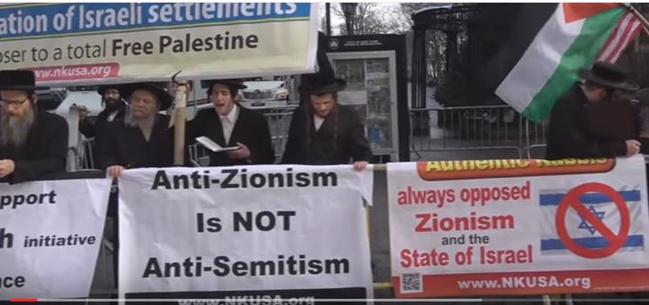 Anti-Zionist Orthodox Jews demonstrate in support of a total Free Palestine